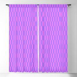Modern abstract  geometrical blush pink violet pattern Blackout Curtain