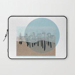 Rice Paper City Scape, Blue Laptop Sleeve