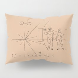 Nasa Pioneer Space Craft Plaque Alien Message Pillow Sham