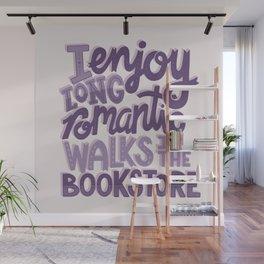 Book Nerd - Romantic Bookstore Purple Wall Mural