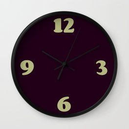 Eggplant Purple Color Scheme Home Decor Wall Clock