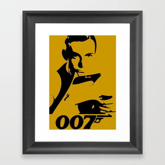 007 James Bond Framed Art Print