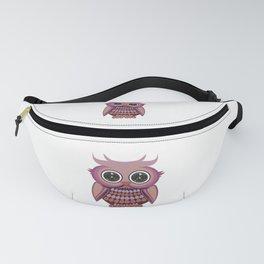 Star Eye Owl - Purple Orange Fanny Pack