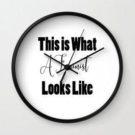 I Am a Feminist Wall Clock