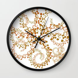 Particles of Pentagons Wall Clock