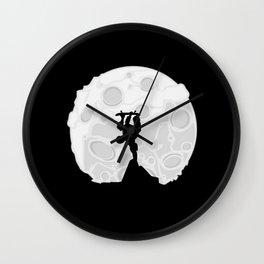 Skater Moon Wall Clock