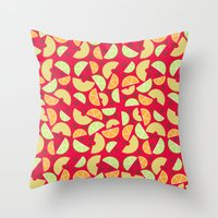 singapore Throw Pillows featuring Singapore Sling by House of MacGuffin