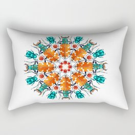Bug Mandala Rectangular Pillow
