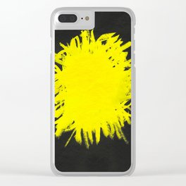 YELLOW AND BLACK Clear iPhone Case