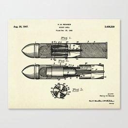 Rocket Shell-1947 Canvas Print