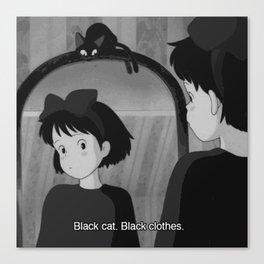 50 shades of black Canvas Print