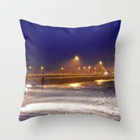 Throw Pillows featuring Storm Watch  by DanByTheSea