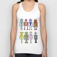 robots Tank Tops featuring Robots by Annabelle Scott
