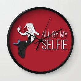 All by my selfie Wall Clock