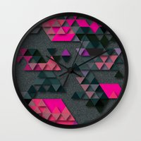 the thing Wall Clocks featuring One Thing by Bakmann Art