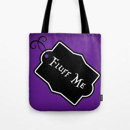 """""""Fluff Me"""" Alice in Wonderland styled Bottle Tag Design in 'Shy Violets' Tote Bag"""