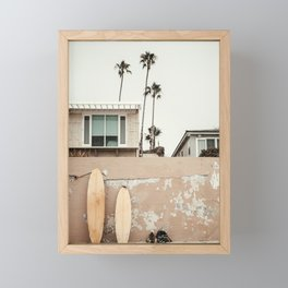 San Diego Surfing Framed Mini Art Print