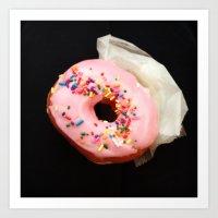 doughnut Art Prints featuring DOUGHNUT by cbeaty
