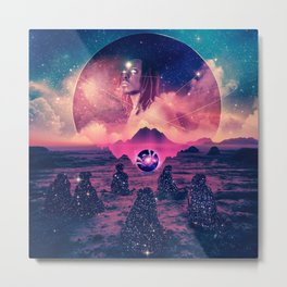 The Rising: A Manifestation of Unified Consciousness Metal Print
