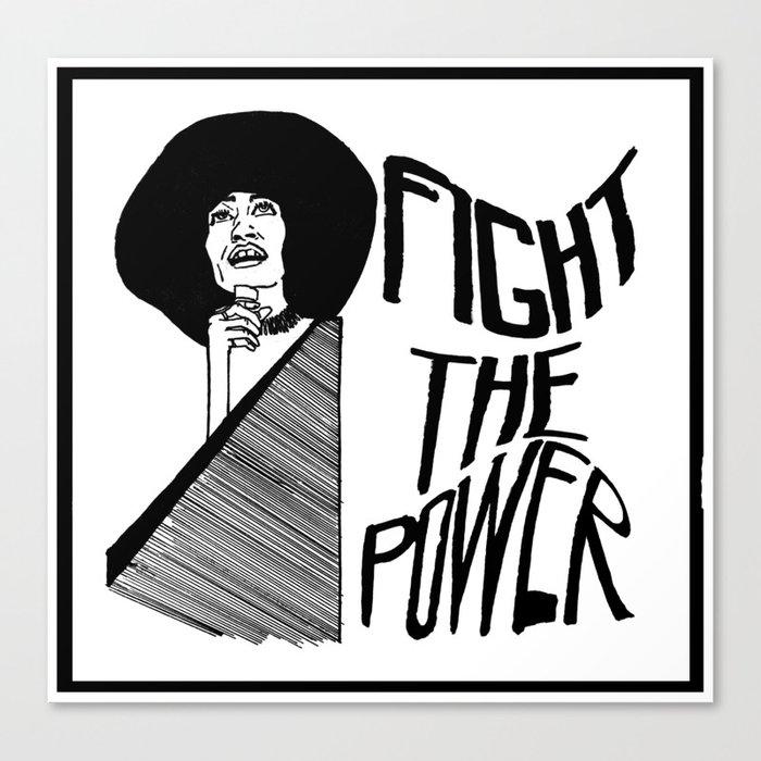 Fight the Power: Angela Davis Canvas Print