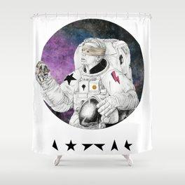 Blackstar Shower Curtain