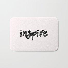 inspire - hand made caligraphy Bath Mat