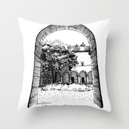 a glance inside Throw Pillow
