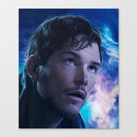 starlord Canvas Prints featuring Starlord by Mel's Prints