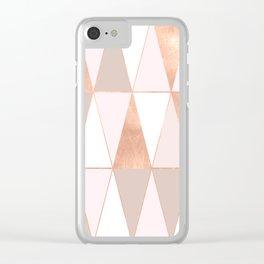 GEO TIKKI - ROSEGOLD PASTEL Clear iPhone Case