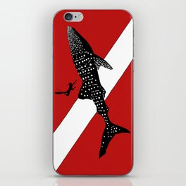 DIVER DOWN - whale shark dive iPhone Skin