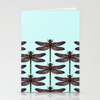 dragonfly Stationery Cards featuring dragonfly by Sharon Turner