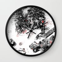 neil gaiman Wall Clocks featuring Simon Neil by Vinny Ten Legs