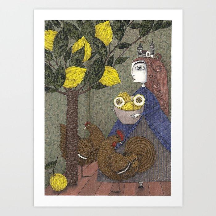 The Lemon Picker Art Print