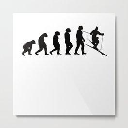 Ski Evolution Metal Print