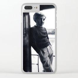 STATUE BOY Clear iPhone Case