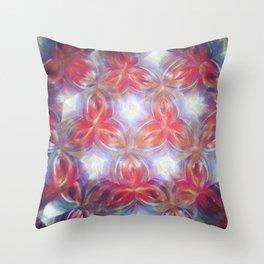 Kaleidoscope flower Throw Pillow