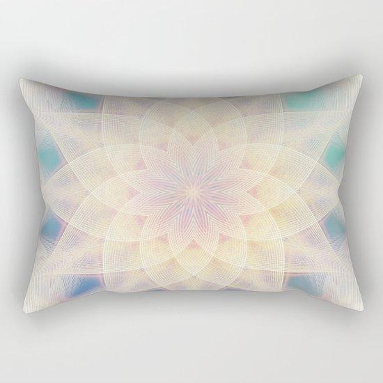 Water Lily Mandala Rectangular Pillow