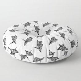 Paper Crane Bird Origami Doodle Pattern Floor Pillow