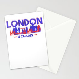 London Is Calling Skyline UK Vacation Stationery Cards