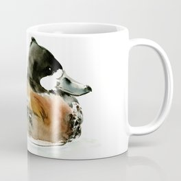Ruddy Duck, duck artwork duck wall art design brown black Coffee Mug