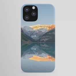 Lake Louise Sunrise Reflection Canadian Rockies Banff National Park Landscape  iPhone Case