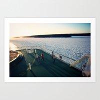 finland Art Prints featuring Finland Ferry by Jonas A.lexander David