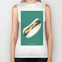 hot dog Biker Tanks featuring Hot Dog by Haina