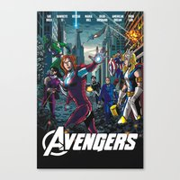 The Lady Avengers Canvas Print