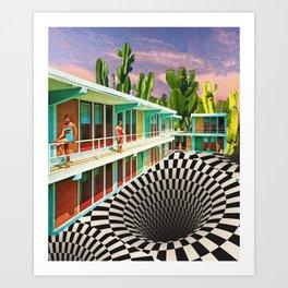 Time Warp Motel Art Print