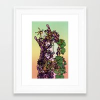 cycle Framed Art Prints featuring Cycle by Anders Teigene