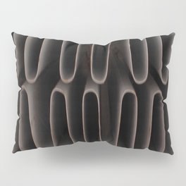 Industrial Waves | Metal Coils Abstract | Contemporary Art Pillow Sham