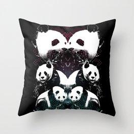 PANDA COLLIDE Throw Pillow
