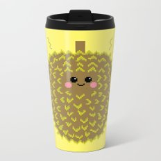 Happy Pixel Durian Metal Travel Mug