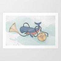 Whale the artist. Art Print